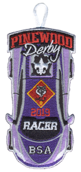 2019 Pinewood Derby Wolf Racer Patch