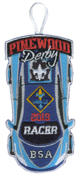 2019 Pinewood Derby Webelos Racer Patch