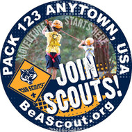 Custom Cub Scout Pack Join Scouts Car Sticker (SP5242)