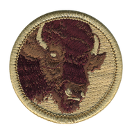Maroon Buffalo Patrol Patch