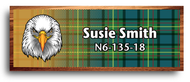 Wood Badge Eagle Tartan Starburst Name Tag