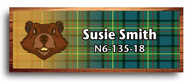 Wood Badge Beaver Tartan Starburst Name Tag