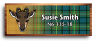 Wood Badge Antelope Tartan Starburst Name Tag