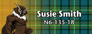 Wood Badge Tough Owl Tartan Starburst Name Tag