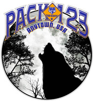 Custom Cub Scout Pack Howling Wolf Car Sticker (SP5420)