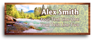 River Nametag