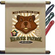 Custom Wood Badge Beaver Mini Flag - Flag Only (SP5142)