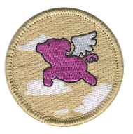 When Pigs Fly Patrol Patch