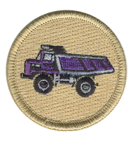 Purple Dump Truck Patrol Patch