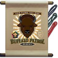 Custom Wood Badge Buffalo Patrol Mini Flag - Sunray (SP DP5129)