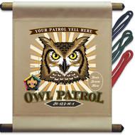 Custom Wood Badge Owl Patrol Mini Flag - Sunray (SP DP5127)