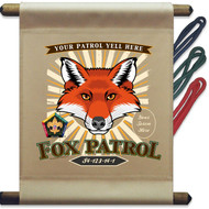 Custom Wood Badge Fox Mini Flag - Flag Only (SP DP5128)