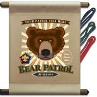 Custom Wood Badge Bear Patrol Mini Flag - Sunray (SP DP5130)