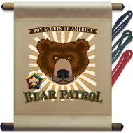 Wood Badge Bear Mini Flag - Flag Only (SP5141)