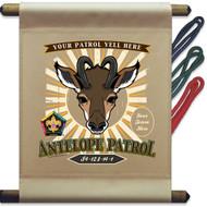 Custom Wood Badge Antelope Patrol Mini Flag - Sunray (SP DP5126)