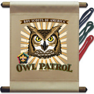 Wood Badge Owl Mini Flag - Flag Only (SP5138)