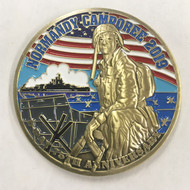 75th Anniversary Normandy Camporee Coin Front
