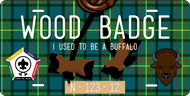 License Plate Wood Badge Beads With Buffalo SP7292