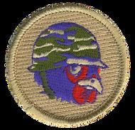 Purple Army Chicken Patrol Patch