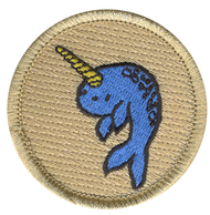 Blue Narwhal Patrol Patch