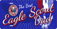 License Plate Eagle Scout Dad Eagle Silhouette SP7324