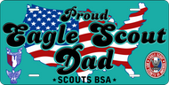 License Plate Eagle Scout Dad USA SP7340