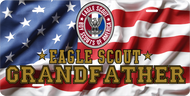 License Plate Eagle Scout Grandfather Waving American Flag SP7335