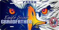 License Plate Eagle Scout Grandfather Comic Eagle SP7346