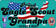 License Plate Eagle Scout Grandpa USA SP7350