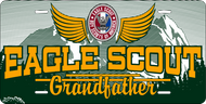 License Plate Eagle Scout Grandfather  SP7351