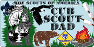 License Plate Cub Scout Dad (SP7418)