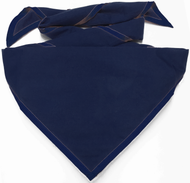 Blank Solid Navy Neckerchief Troop Size (B414 M 85)