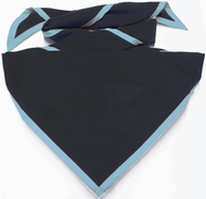Blank Black Neckerchief with Iris Piped Edge Troop Size (B848 BT 8/61)