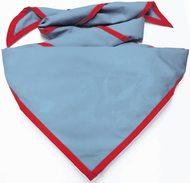 Blank Light Blue Neckerchief with Red Piped Edge Troop Size (B848 BT 59/5)