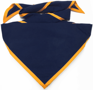 Blank Navy Neckerchief with Gold Piped Edge Troop Size (B848 BST 72/9)