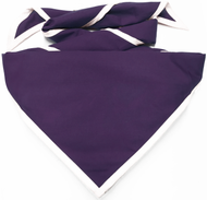 Blank Purple Neckerchief with White Piped Edge Troop Size (B848 M 82/1)