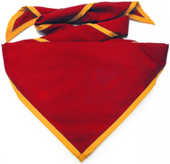 Blank Cherry Red Neckerchief with Gold Piped Edge Troop Size (B848 M 64/42)