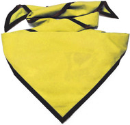 Blank Bright Yellow Neckerchief with Black Piped Edge Troop Size (B848 M 41/90)