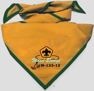 Custom Digitally Printed Wood Badge Neckerchief (SP7468)