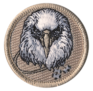 Official Licensed Wood Badge Eagle with Three Beads Patrol Patch