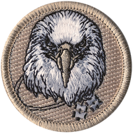 Official Licensed Wood Badge Eagle with Four Beads Patrol Patch