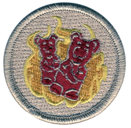 Flaming Gummy Bears Patrol Patch