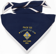 Scout Me In Arched Cub Scout Logo Embroidered Neckerchief