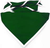 Blank Forest Green Neckerchief with White Piped Edge Troop Size (B848 M 89/1W)