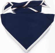 Blank Navy Blue Neckerchief with White Piped Edge Troop Size (B848 BT 72/1)