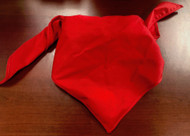 Blank Solid Red Neckerchief Troop Size (B414 BT 5)