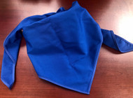 Blank Solid Royal Blue Neckerchief Troop Size (B414 BT 67)