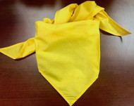 Blank Solid Gold Neckerchief Troop Size (B414 M 9)