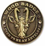 Wood Badge Antelope Hiking Stick Medallion