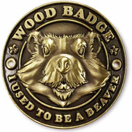 Wood Badge Beaver Hiking Stick Medallion